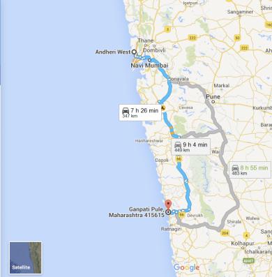 Mumbai - Ganpatipule Route